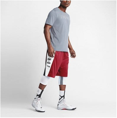 Jordan AS TAKEOVER SHORT 男用短褲 籃球褲 快速排汗 透氣舒適 紅色 724843 687