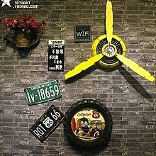 loft工業風裝飾品飛機螺旋槳鐵藝壁飾壁掛牆上裝飾品(4色可選)
