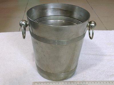 冰桶(2)~香檳桶.雞尾酒桶~雙環~金屬製~銅?不知?~再電鍍~不吸磁~高約21.5CM~重約1.2KG