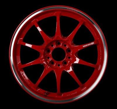 日本 Volk Racing Rays 鍛造 鋁圈 CE28 CLUB RACER 霧紅 霧白 銀邊 15吋 17吋
