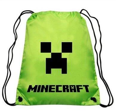 我的世界背包 minecraft周邊 JJ怪苦力怕拉繩雙肩背包 抽繩束口袋