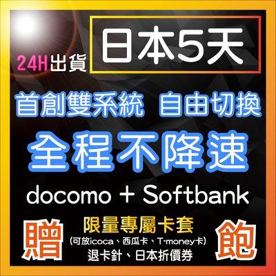 (團購區) 日本神卡 5天 全台首創雙系統自由切換 不降速吃到飽 限時特價 日本網卡 免設定 隨插即用 日本上網卡