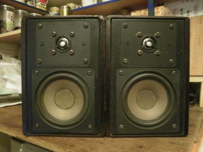 (老高音箱) 德國 HECO INTERIOR 80 書架鑑聽喇叭完整一對 (JBL control 1X 參考比較)