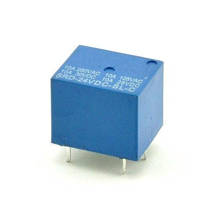 繼電器 24V T73 SRD-24VDC-SL-C 5腳 W142-5 [324118]