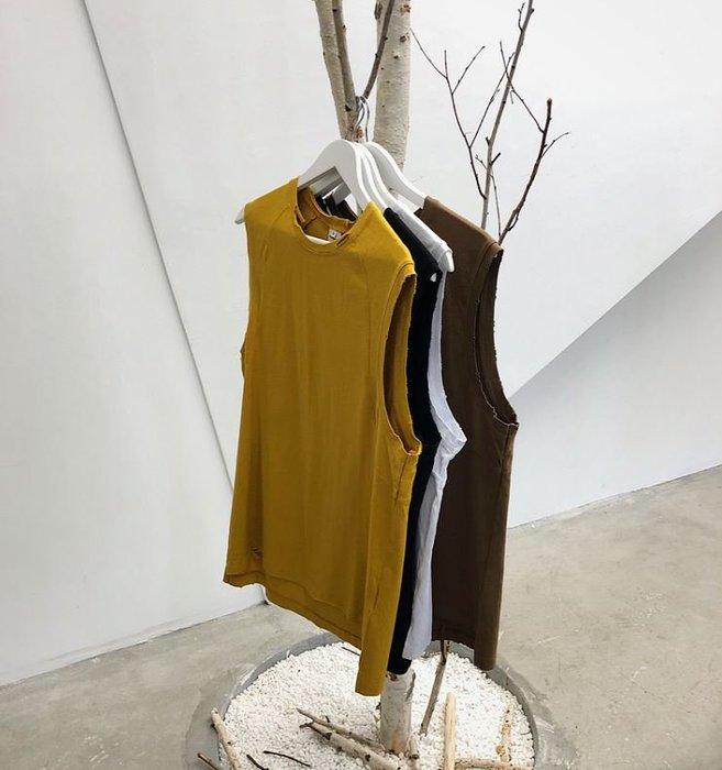 【NoComment】韓系街頭休閒 復古時尚 素面復古無袖背心 四色 ZARA H&M