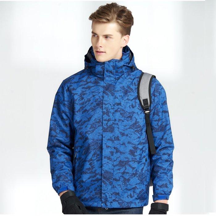 保暖風衣 戶外 衝鋒衣 男女潮牌三合一兩件套加絨加厚保暖防水透氣登山滑雪服