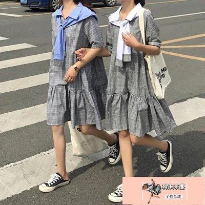 閨蜜裝 法國小眾桔梗連身裙女年流行夏季韓版學生森系閨蜜裝裙子【韓潮來襲】