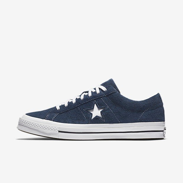 Converse One Star 藍色 麂皮休閒滑板鞋 158371C 女鞋