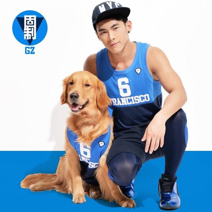 【OTOKO Men's Boutique】籃球風格撞色背心(藍/藍)(台灣獨家代理)