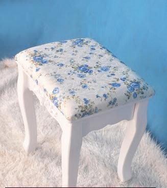 粉紅玫瑰精品屋~歐式韓式田園白色時尚創意田園海綿梳妝椅化妝椅~