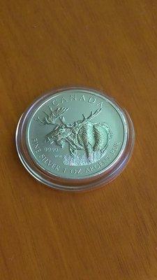 銀幣 紀念幣 加拿大 2012 麋鹿 9999 純銀 Silver 1oz CANADA *