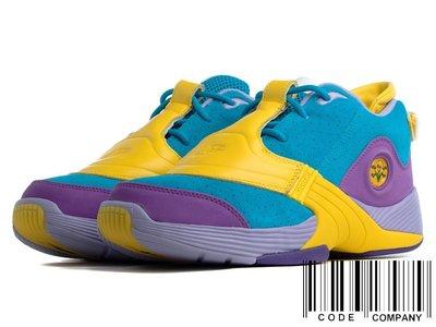 =CodE= REEBOK ANSWER V X BBC ICECREAM 麂皮籃球鞋(藍黃紫)FW7506 菲董 預購
