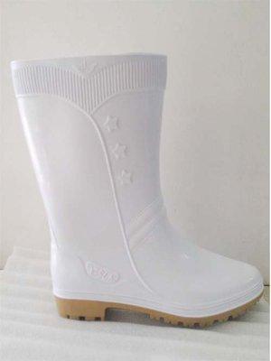 ☆°萊亞生活館~~台灣製高級雨鞋【#568 白色膠鞋-女生款】有內裡工作鞋