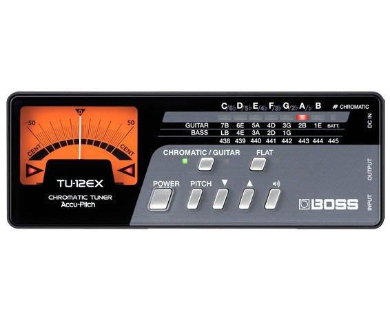 【六絃樂器】全新 Boss TU-12EX 專業級調音器 / 現貨特價