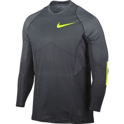 Nike Pro HyperWarm 男 長袖 訓練排汗衣 保暖 圓領  灰 802016-065  現貨