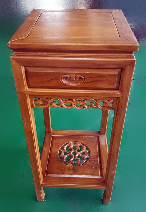 宏品二手家具 (中型)全新柚木傢俱 花架 電話架 角落架 書架 收納架 台中中古傢俱買賣