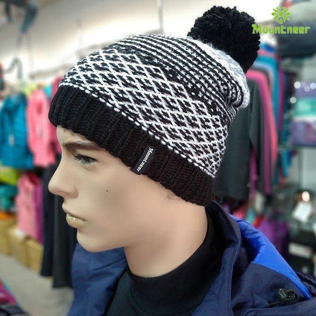 山林 MOUNTNEER 中性保暖針織毛線帽 內刷毛 保暖 戶外休閒 出國旅遊 12H62-01 喜樂屋戶外休閒