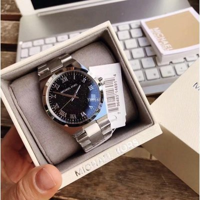 Michael Kors手錶 MK6113 銀河星空耀眼時尚不銹鋼錶帶中性腕錶/銀/男女錶