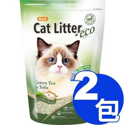 【寵物王國】 CARL卡爾-環保豆腐貓砂(綠茶)6L x2包免運組合