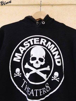 BLACK美中古MASTERMIND JAPAN星巴克WORD骷髏MMJ連帽長T帽T