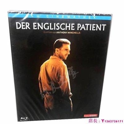 藍光光碟/BD 英國病人:英倫情人戰爭愛情電影高清1080P收藏版片 繁體中字 全新盒裝