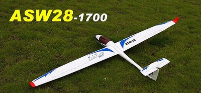 《TS同心模型》新版設計!!可拆翼1.7米 ASW28滑翔機 全面進化(EPO耐衝撞材質