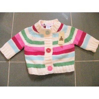 100% 全新 絕對正貨【GAP】Sweater 嬰兒 冷衫毛線衣, 開胸, 厚身,五彩繽紛色,3個月以下23寸7~12磅(原$299) bv