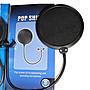 麥克風防噴網POP filter口水罩雙層中型 網路天空 rc語音 北市面交 電容式麥克風