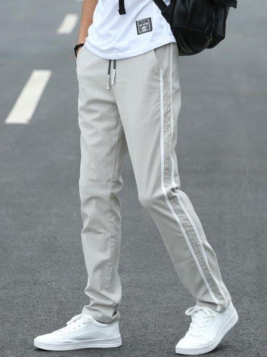 運動休閒褲男學生夏季薄版寬鬆直筒夏褲子男正韓潮流青少年長褲潮