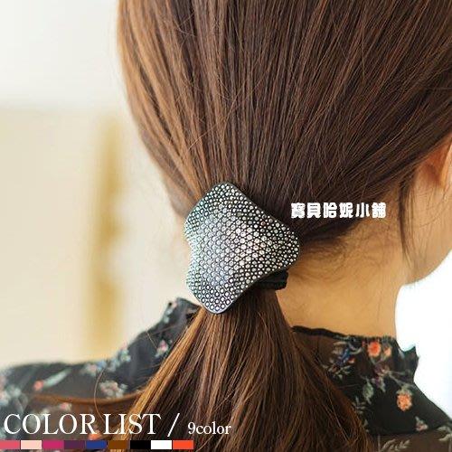 BHI1688-法國品牌RenaChris 施華洛世奇晶鑽滿鑽菱弧形髮圈 髮束【韓國製】AngelRena