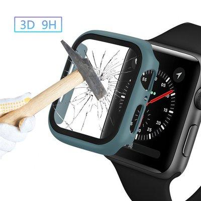 適用于蘋果手表防摔鋼化膜貼膜+保護殼iwatch5保護套4/3/2/1通用噴油PC硬360°全包apple 表套seriSuper store貨到付款