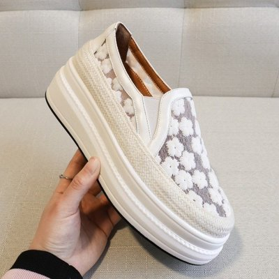 Fashion*厚底樂福鞋 真皮懶人鞋...