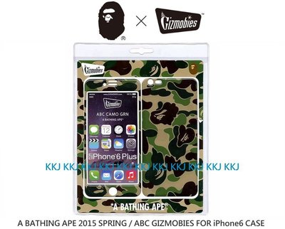 2015 BAPE x GIZMOBIES x iPhone6/6s Plus 綠米彩 5.5 CASE 台灣現貨
