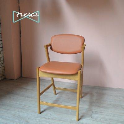 美希嚴選夏洛特吧椅/ /吧台椅/坐感佳適合長使用使用/flap-back  /皮革/皇家橘