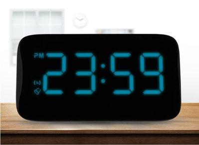 智慧聲控LED電子鬧鐘創意學生簡約靜音床頭鐘兒童多功能座鐘鬧表 帶背光 貪睡功能液晶數字顯示電子時鐘
