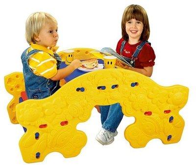 《 美國Grow'n up 》二合一野餐桌椅/雙排搖搖椅-不挑色~2980免運~◎童心玩具1館◎