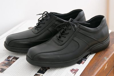 Ovan 男款 全新專利研發『超輕量PMEVA大底』透氣輕量綁帶 MIT手工休閒氣墊皮鞋