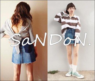 SaNDoN x SLY 春夏新作入荷 立體撞色設計多層次毛鬚俏皮牛仔短裙 UNGRID MURUA 韓妮 170520