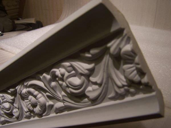 歐式 PU浮雕線板裝飾框. 天花板框邊修飾每一支 240公分 玫瑰花 促銷 角線板 PL-5088 特價@$290