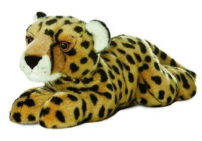 14716c 日本進口  好品質 限量品 可愛又柔順   獵豹花豹 動物娃娃抱枕絨毛絨玩偶娃娃擺設玩具禮品禮物