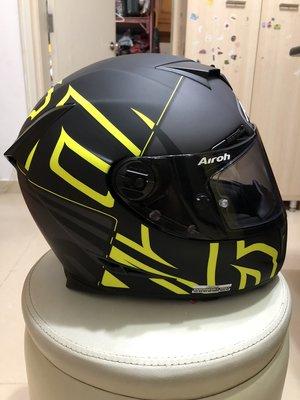 電單車頭盔-Airoh-GP500黃色大碼,電話價,大細鎖,全部95%新