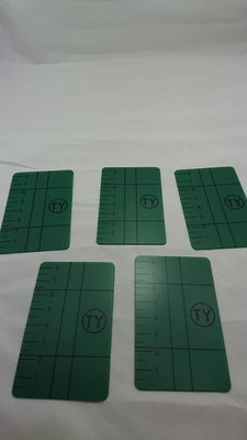 ☆捷成儀器☆TY01綠光雷射水平儀/墨線雷射儀專用綠光反射板標示板綠光雷射反光板 PLS3G PLS180G 反光片5片