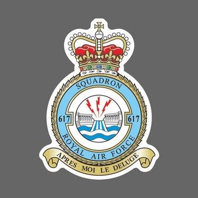 英國皇家空軍第617中隊  徽章貼紙 高167mm
