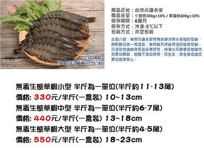 特價!自有農場 [鮮味蝦高級水產專賣店] 無藥養殖草蝦-中型 13-18公分 附SGS檢驗報告