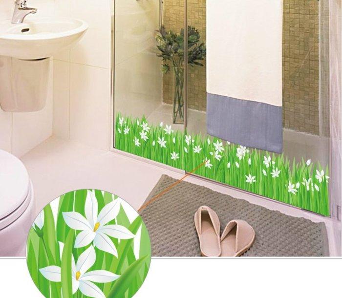 小百合 草地 浴室 廚房 餐廳 廚房 窗貼 壁貼 牆貼~ 萬能百貨