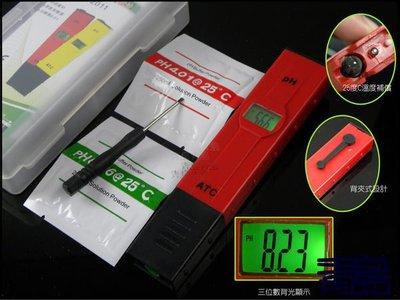 Y。。。青島水族。。。AF-009R 二代 美國ATC-PH 酸鹼 測試 筆(單點效正/溫度補償/三位數顯示)==背光