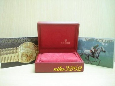 :: NiKo HoUsE ::【ROLEX 勞力士】原廠錶盒(紅色)1-3
