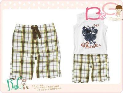 【B& G童裝】正品美國進口Crazy8 Pull-On Plaid Short 綠灰格子短褲6-12mos