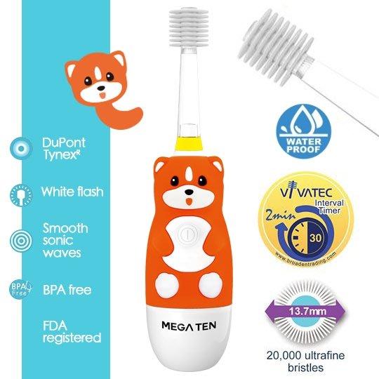 【頂級款】日本 VIVATEC Mega Ten 360度 幼童電動牙刷-柴犬