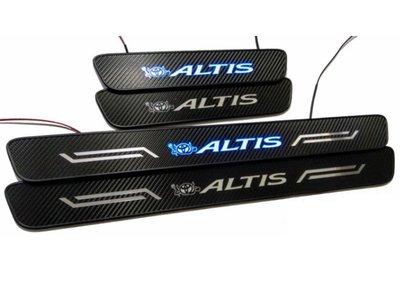NEW ALTIS 2014-18年用 迎賓踏板 冷光踏板 每組4片 小惡魔藍冷光 卡夢樣式